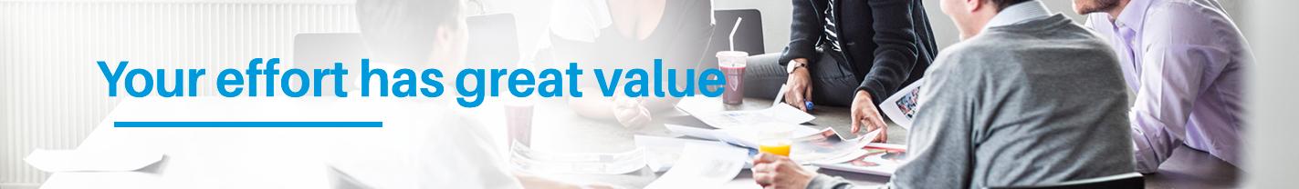 Your-effort-has-great-value